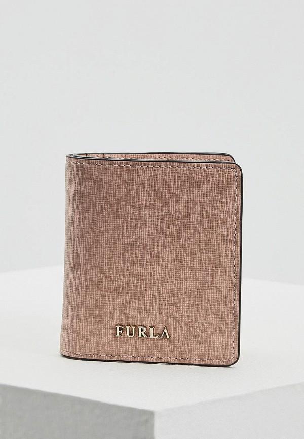 женский кошелёк furla, розовый