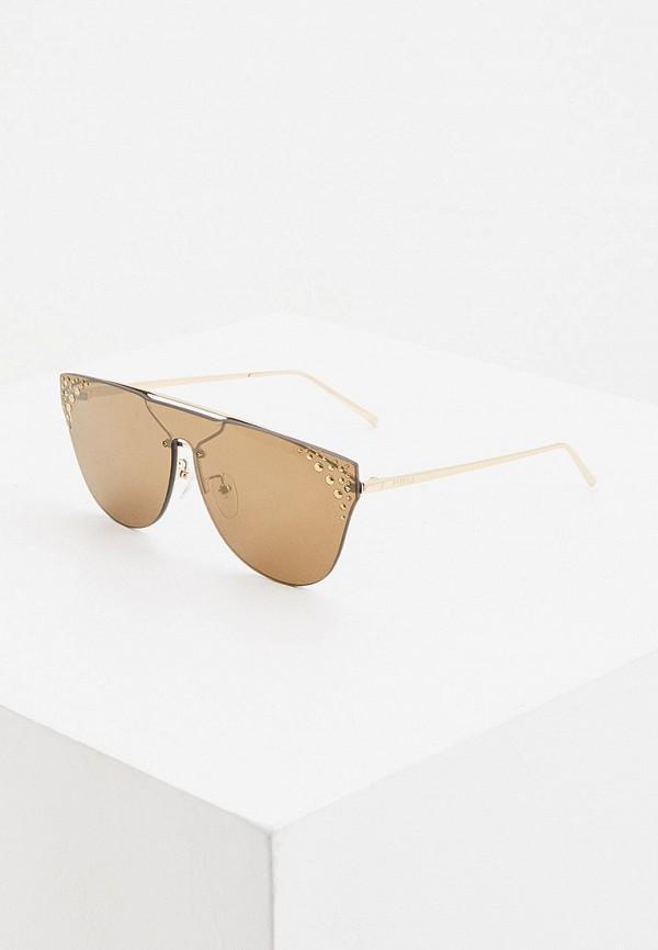 женские круглые солнцезащитные очки furla, коричневые