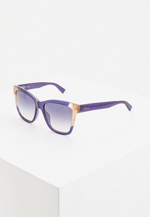 женские солнцезащитные очки furla, синие