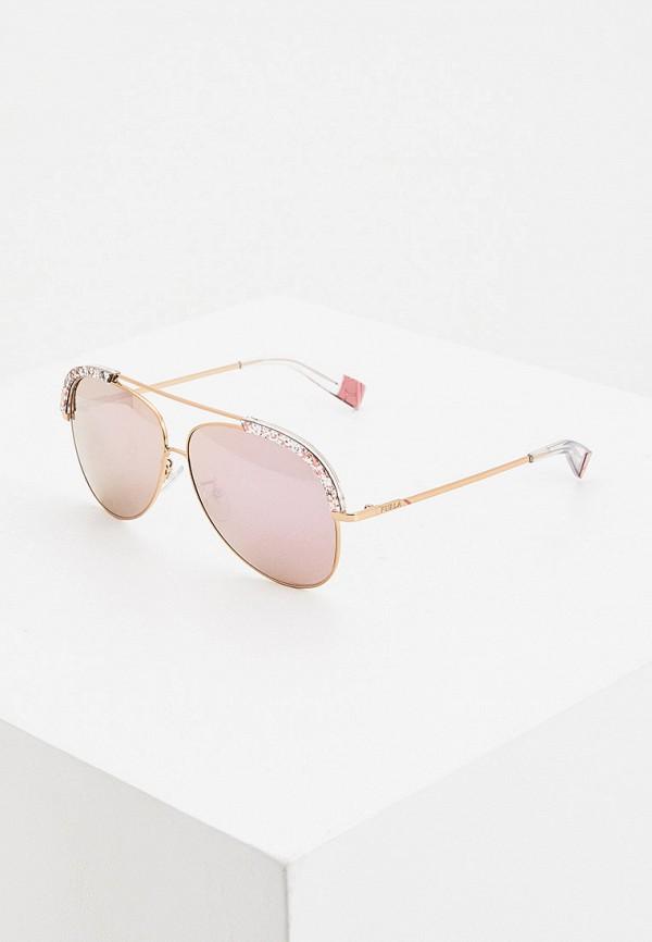 женские солнцезащитные очки furla, розовые