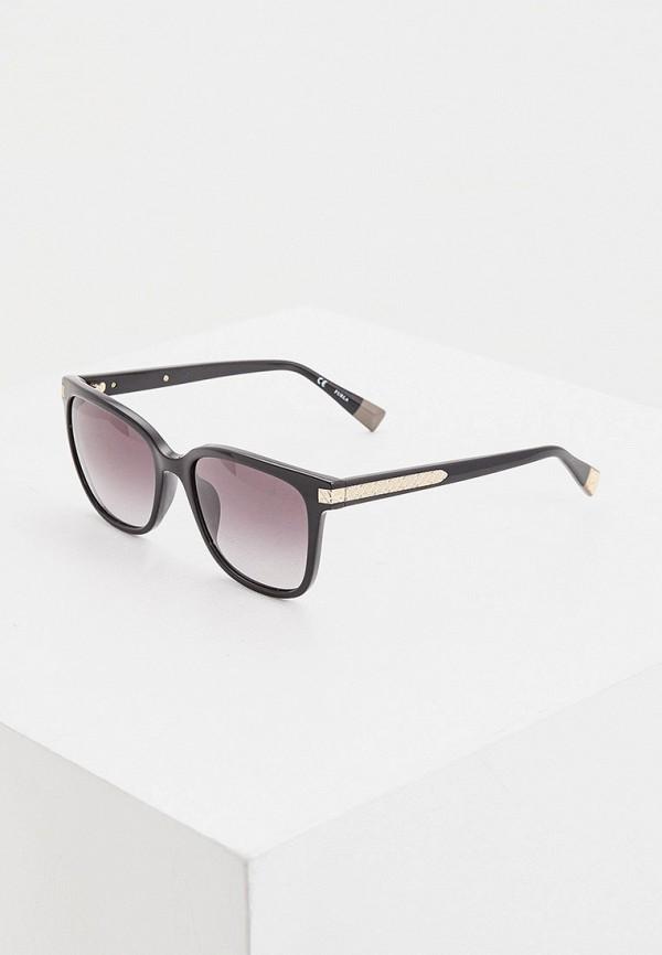 женские квадратные солнцезащитные очки furla, черные
