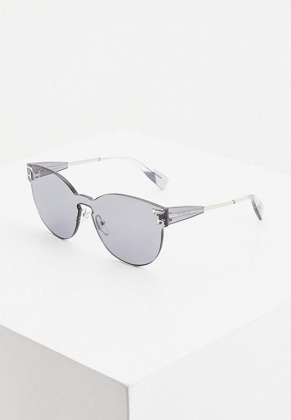 женские солнцезащитные очки furla, серые