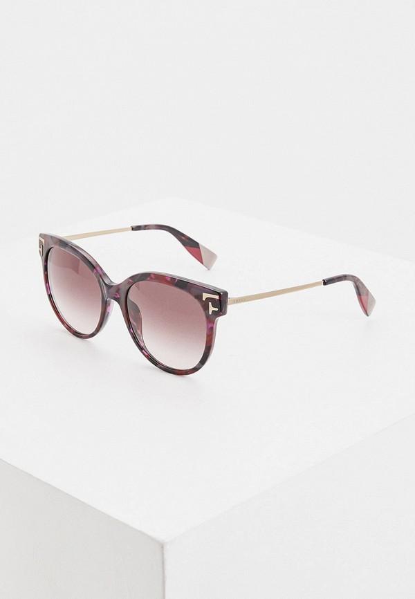 женские круглые солнцезащитные очки furla, фиолетовые