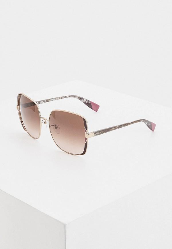 женские квадратные солнцезащитные очки furla, серые