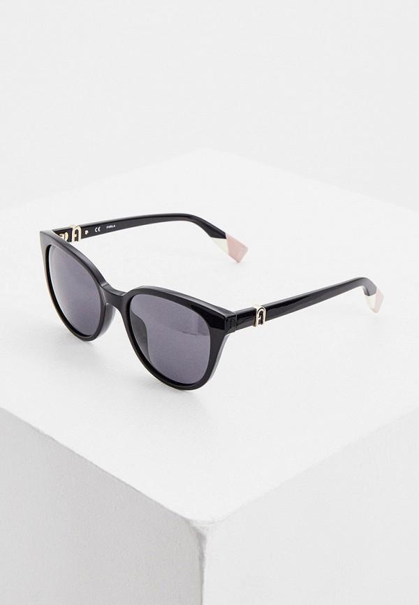 женские солнцезащитные очки furla, черные
