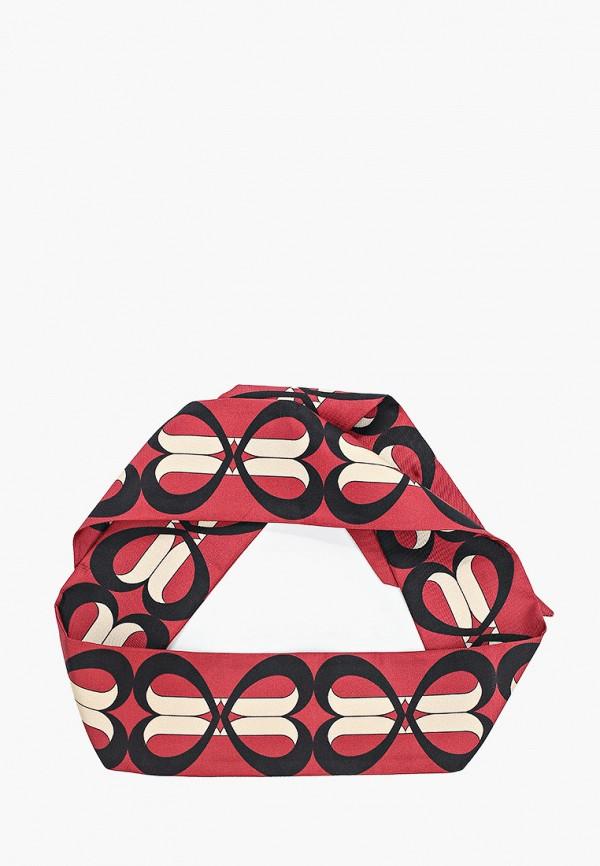 женский шарф furla, бордовый