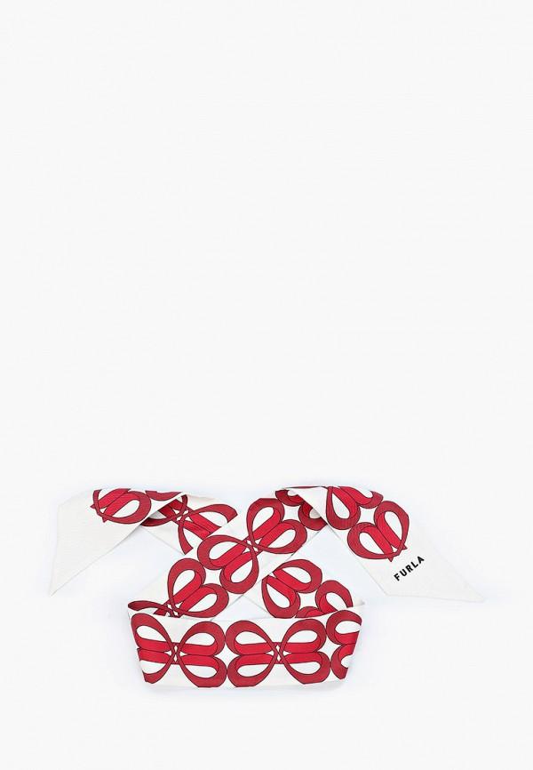 женский шарф furla, белый
