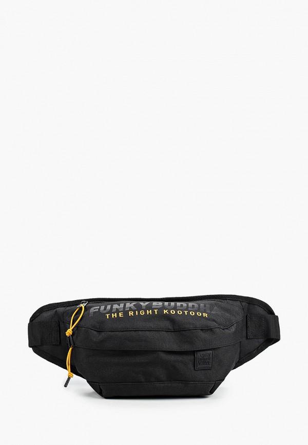 мужская поясные сумка funky buddha, черная
