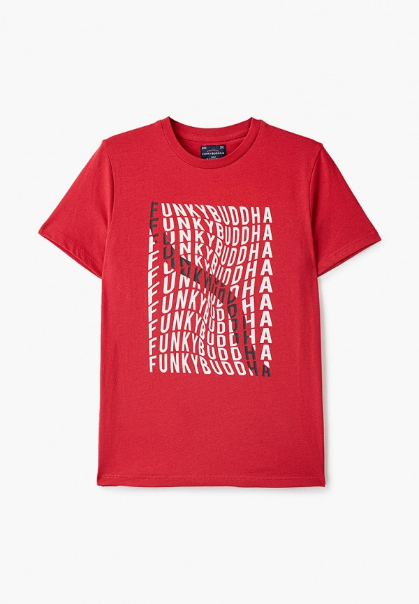 футболка с коротким рукавом funky buddha для мальчика, красная
