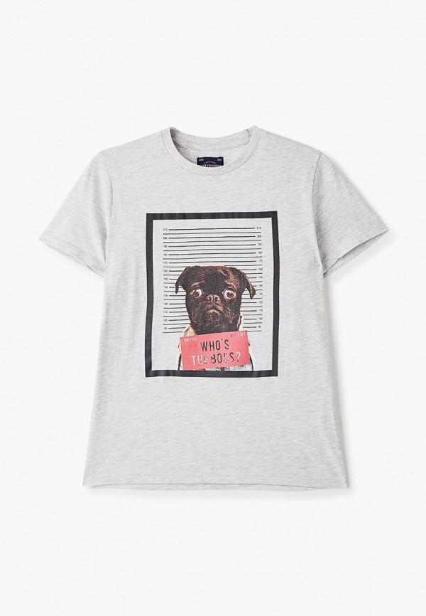 футболка с коротким рукавом funky buddha для мальчика, серая