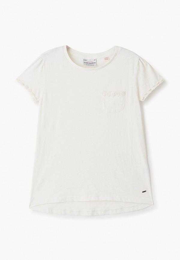 футболка с коротким рукавом funky buddha для девочки, белая