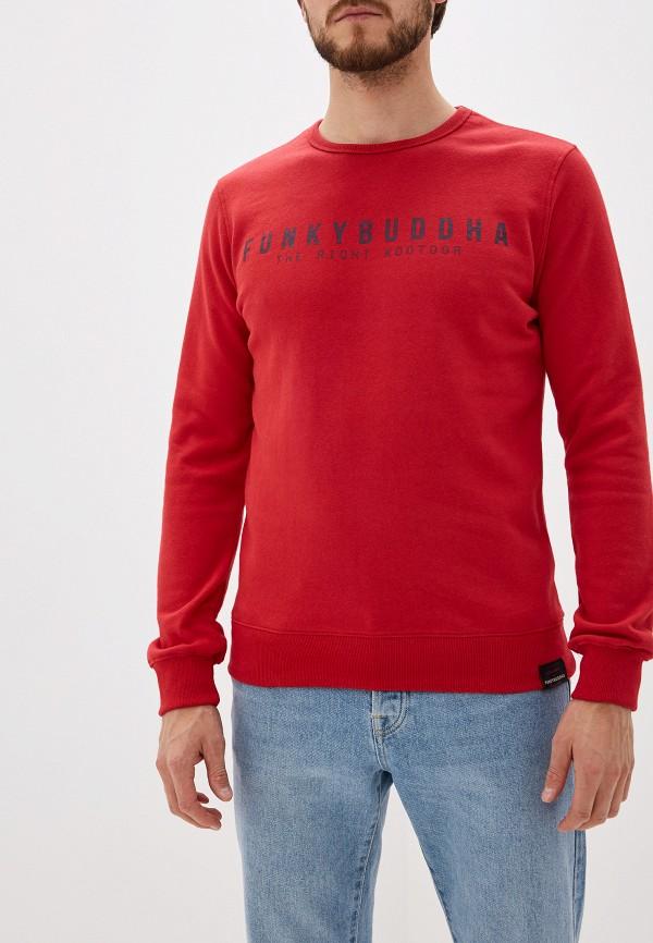 мужской свитшот funky buddha, красный