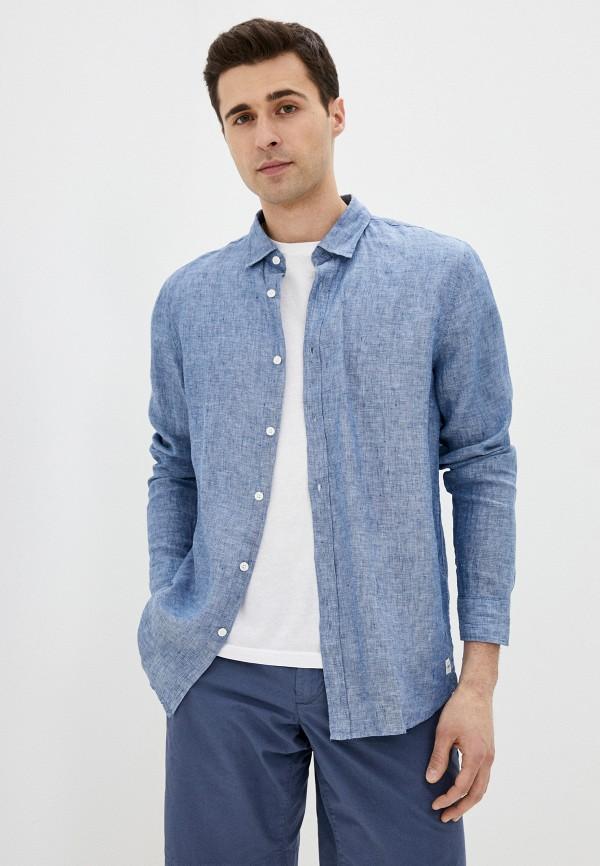 мужская рубашка с длинным рукавом funky buddha, голубая