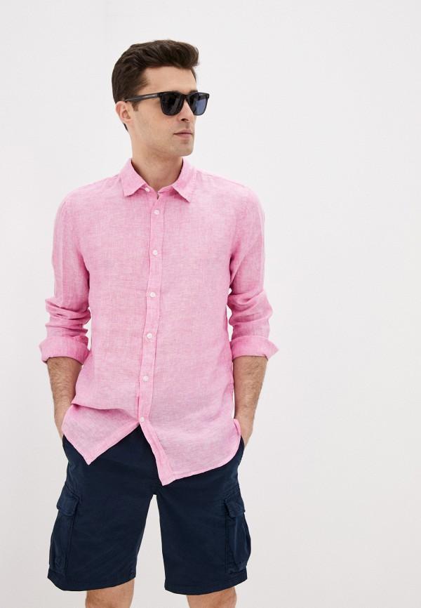 мужская рубашка funky buddha, розовая