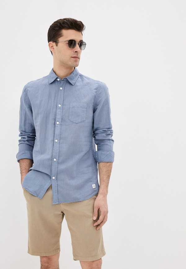 мужская рубашка funky buddha, голубая