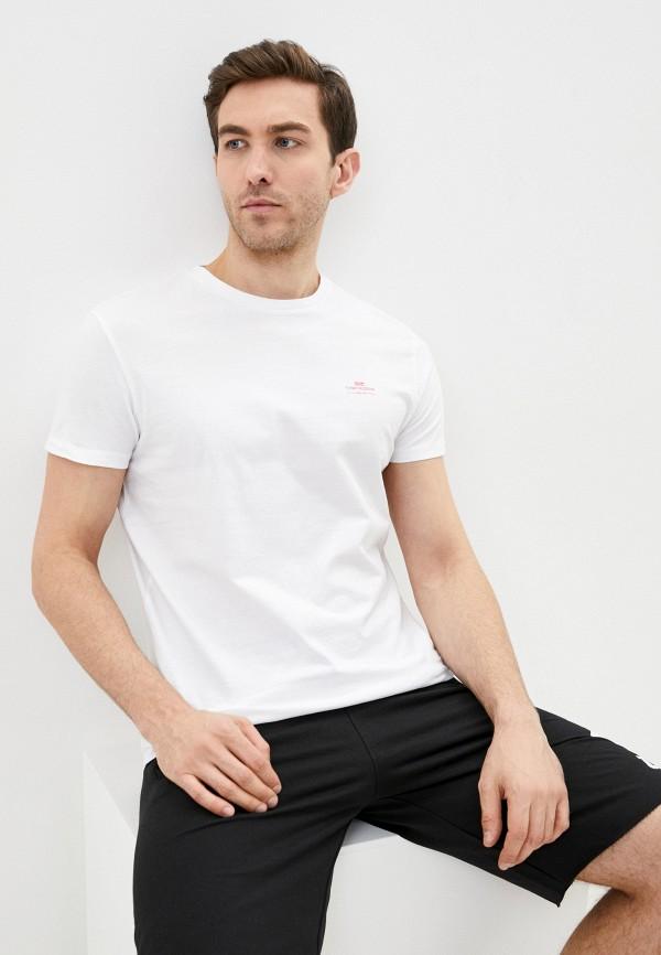 мужская футболка с коротким рукавом funky buddha, белая