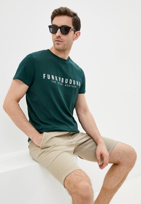 мужская футболка с коротким рукавом funky buddha, зеленая