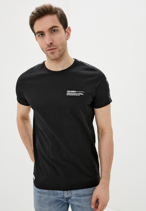 мужская футболка с коротким рукавом funky buddha, черная