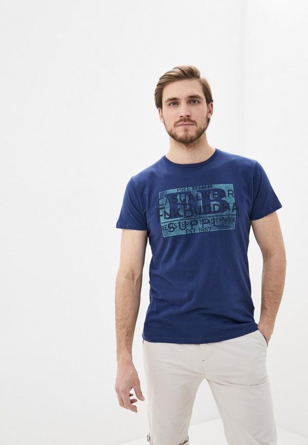 мужская футболка funky buddha, синяя