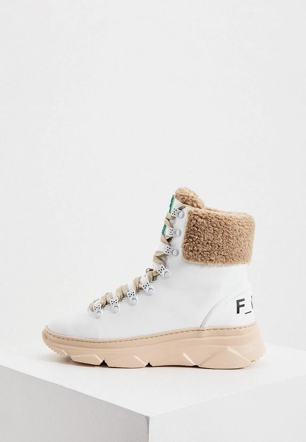 женские ботинки f_wd, белые