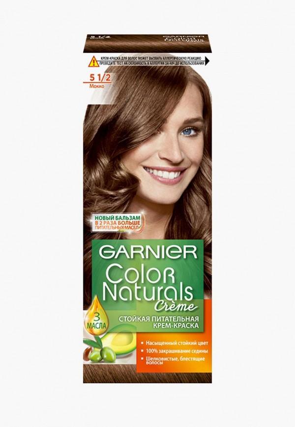 Купить Краска для волос Garnier, стойкая, питательная Color Naturals , оттенок 5.1/2, Мокко, GA002LWATKG6, коричневый, Весна-лето 2018