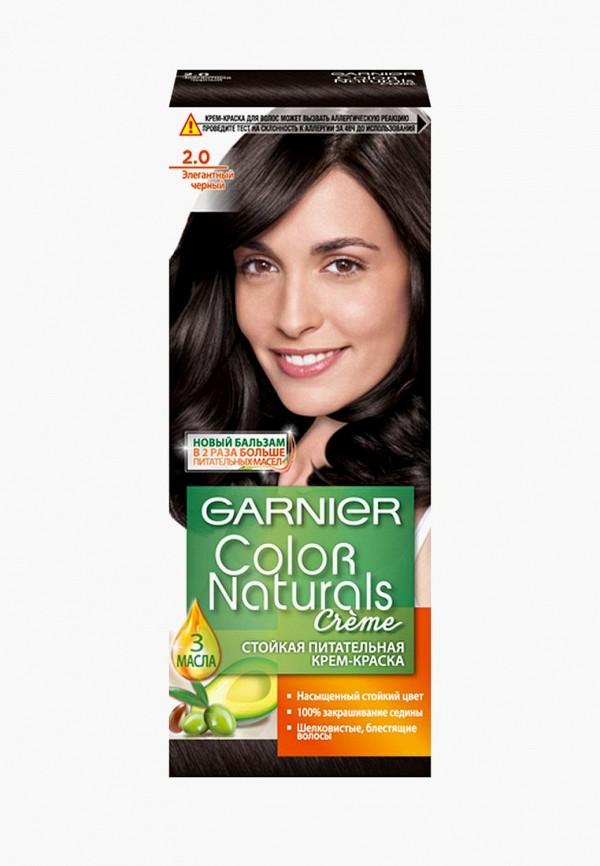 Краска для волос Garnier, Стойкая питательная Color Naturals , оттенок 2.0, Элегантный Черный, ga002lwbnmo1, черный, Осень-зима 2018/2019  - купить со скидкой