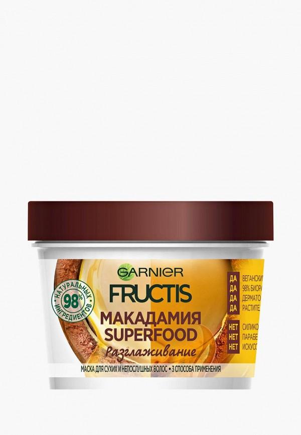 Купить Маска для волос Garnier, Fructis 3 в 1 Superfood Макадамия , разглаживающая, для сухих и непослушных волос, 390 мл, без парабенов, силиконов и искусственных красителей, ga002lwbnmo6, прозрачный, Весна-лето 2019