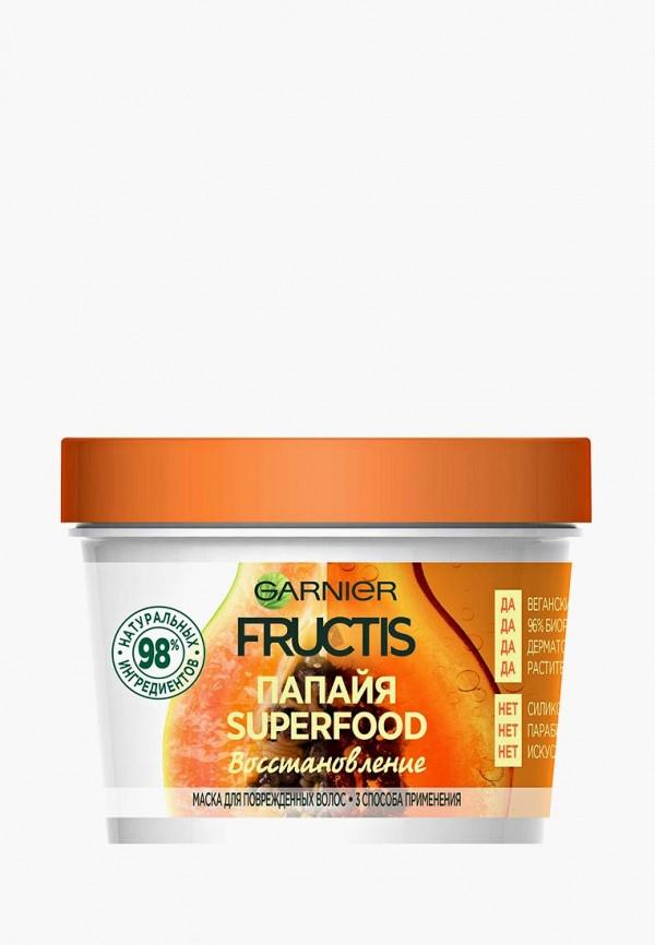 Купить Маска для волос Garnier, Fructis 3 в 1 Superfood Папайя , восстанавливающая, для поврежденных волос, 390 мл, без парабенов, силиконов и искусственных красителей, ga002lwbnmo7, прозрачный, Весна-лето 2019