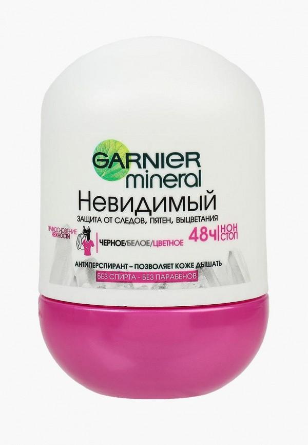 Купить Дезодорант Garnier, антиперспирант шариковый Mineral, Черное, белое, цветное , невидимый, женский, 50 мл, GA002LWIVR32, прозрачный, Весна-лето 2018