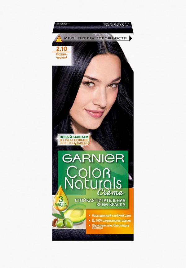 Купить Краска для волос Garnier, стойкая питательная Color Naturals, оттенок 2.10, Иссиня черный, GA002LWIVS67, прозрачный, Весна-лето 2018