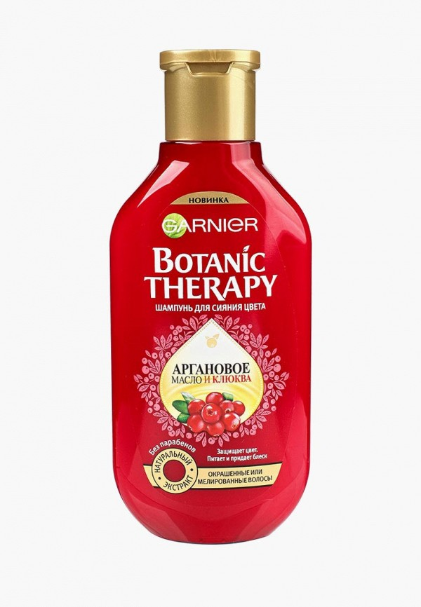 Купить Шампунь Garnier, для волос Botanic Therapy Клюква и аргановое масло для окрашенных и мелированных волос, 250 мл, ga002lwptk40, красный, Осень-зима 2018/2019