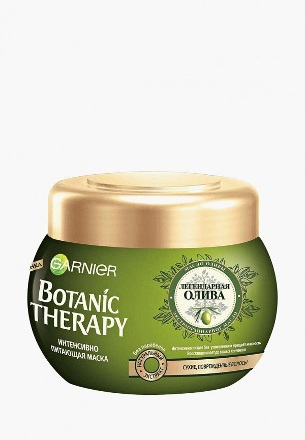 Купить Маска для волос Garnier, Botanic Therapy Легендарная олива для сухих, поврежденных волос, 300 мл, ga002lwptk43, прозрачный, Весна-лето 2019