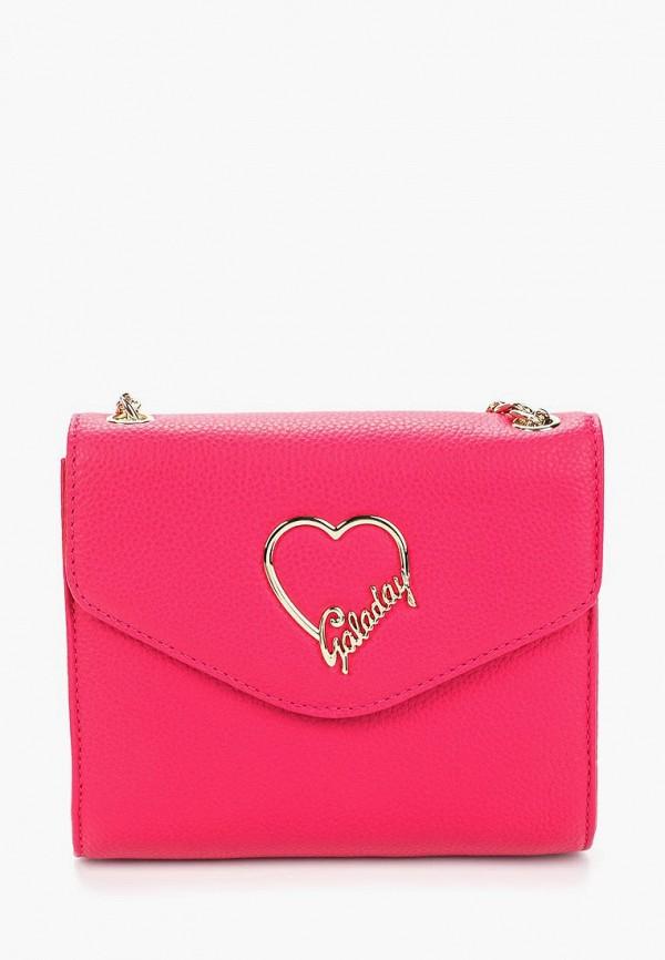 женская сумка galaday, розовая