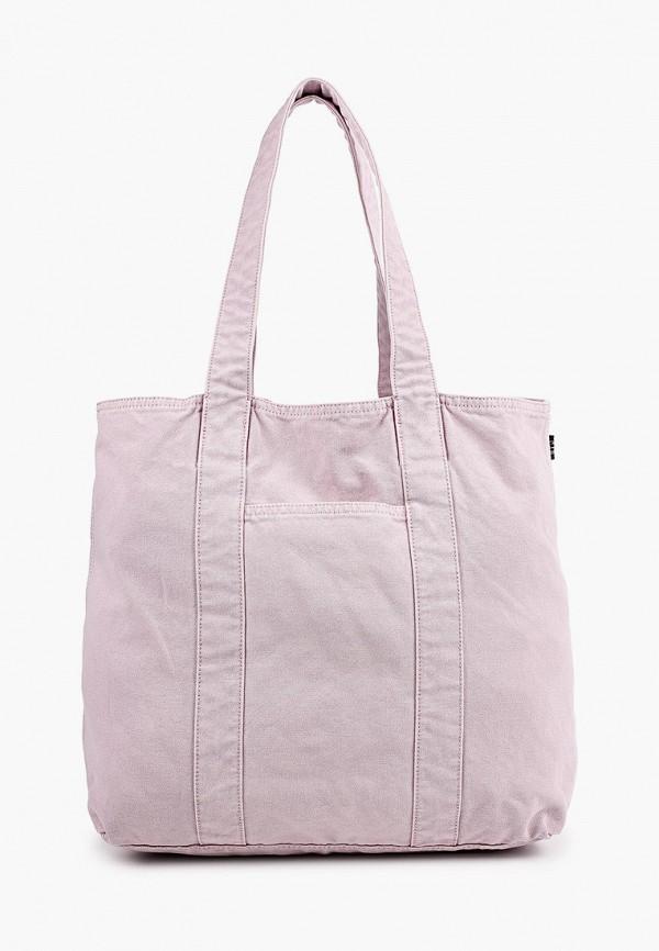 женская сумка-шоперы gap, фиолетовая