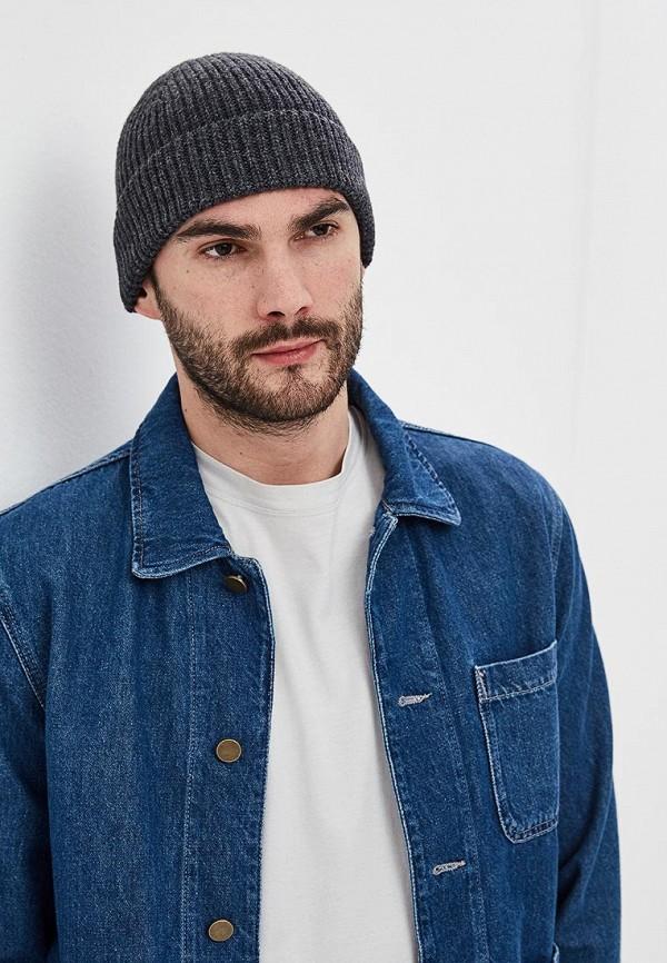 Фото 3 - мужскую шапку Gap серого цвета