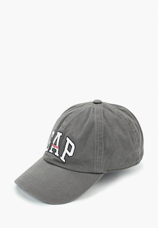 Фото - мужскую бейсболку Gap серого цвета