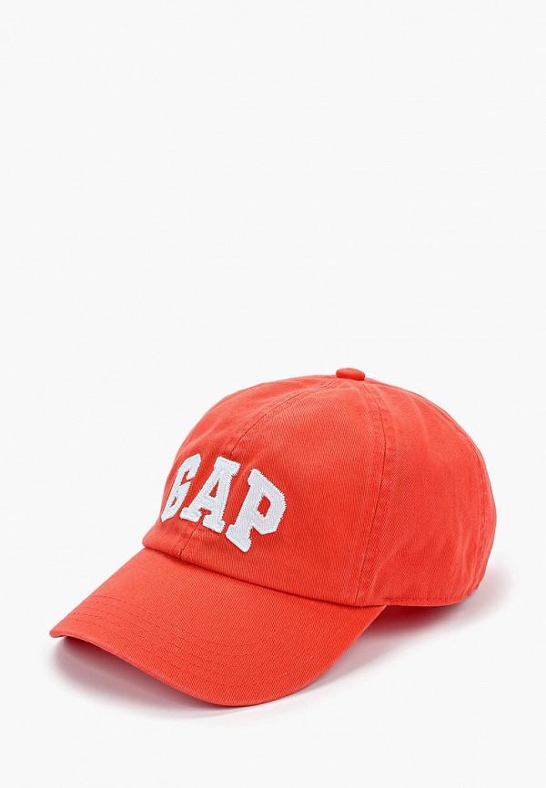 женская бейсболка gap, красная