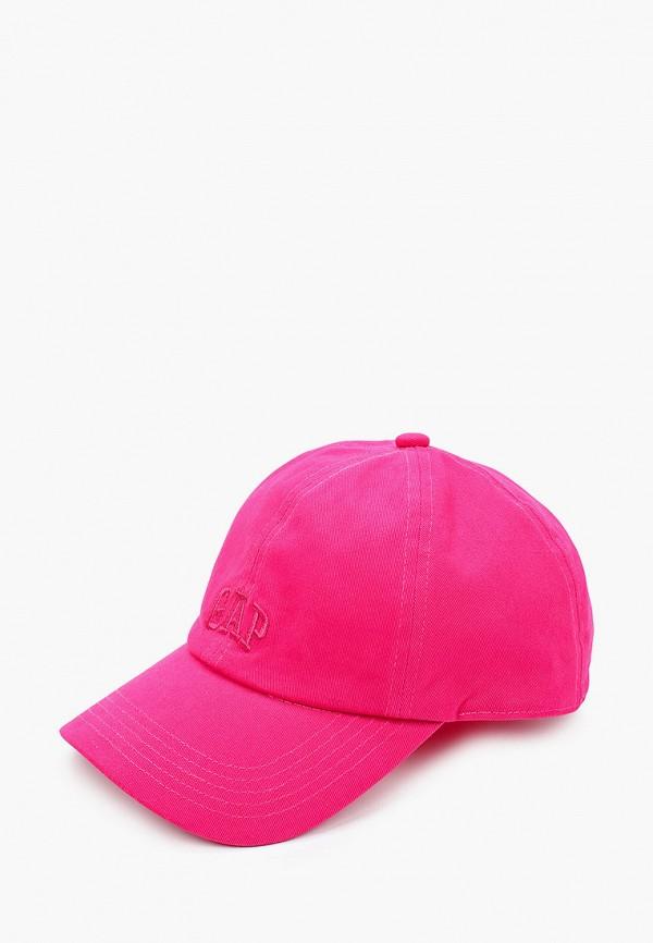 женская бейсболка gap, розовая