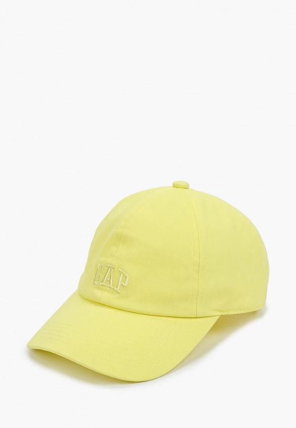 женская бейсболка gap, желтая