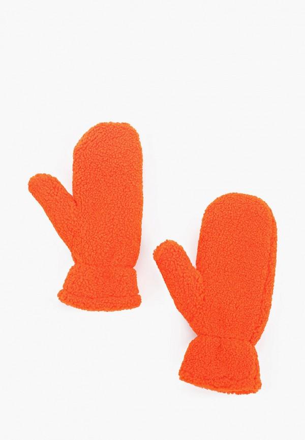 женские варежки gap, оранжевые