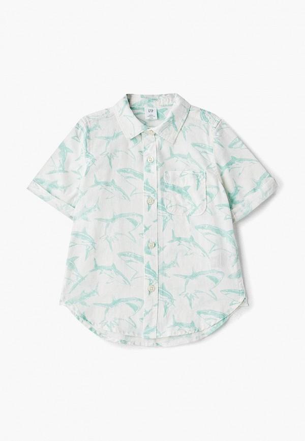 рубашка gap для мальчика, бирюзовая