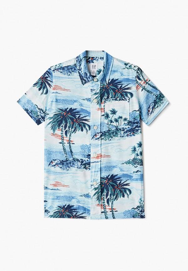 рубашка gap для мальчика, голубая