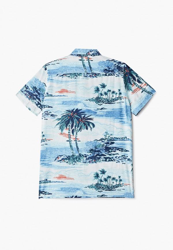 Фото 2 - Рубашку Gap голубого цвета