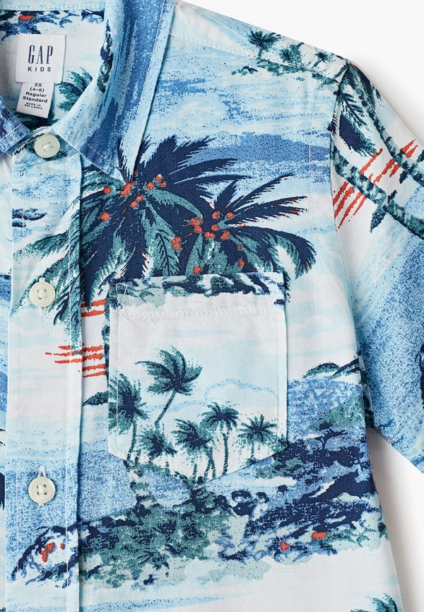 Фото 3 - Рубашку Gap голубого цвета