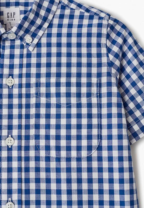 Фото 3 - Рубашку Gap синего цвета