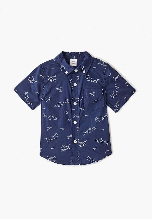 рубашка gap для мальчика, синяя
