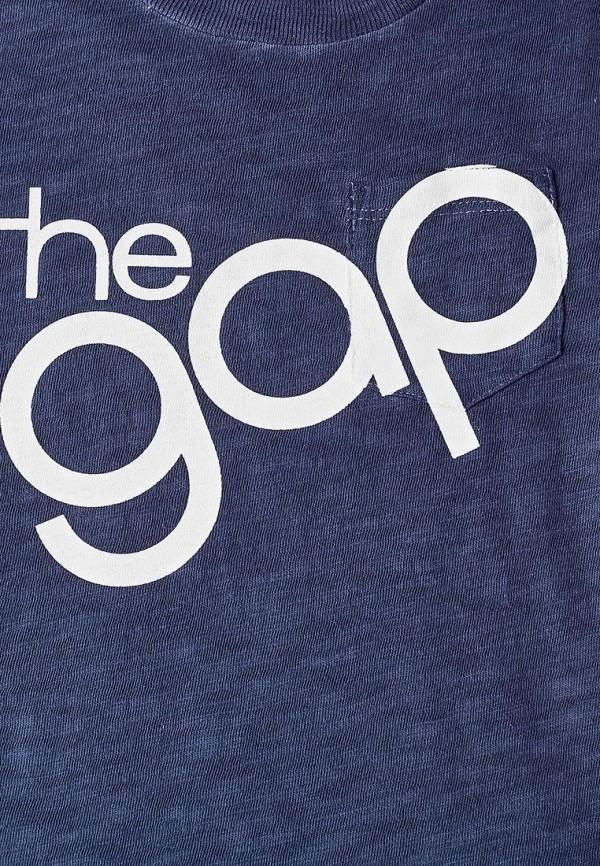 Фото 3 - Футболку Gap синего цвета
