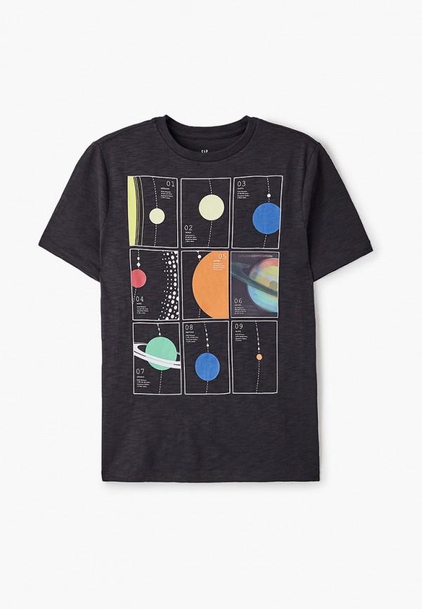 футболка с коротким рукавом gap для мальчика, черная