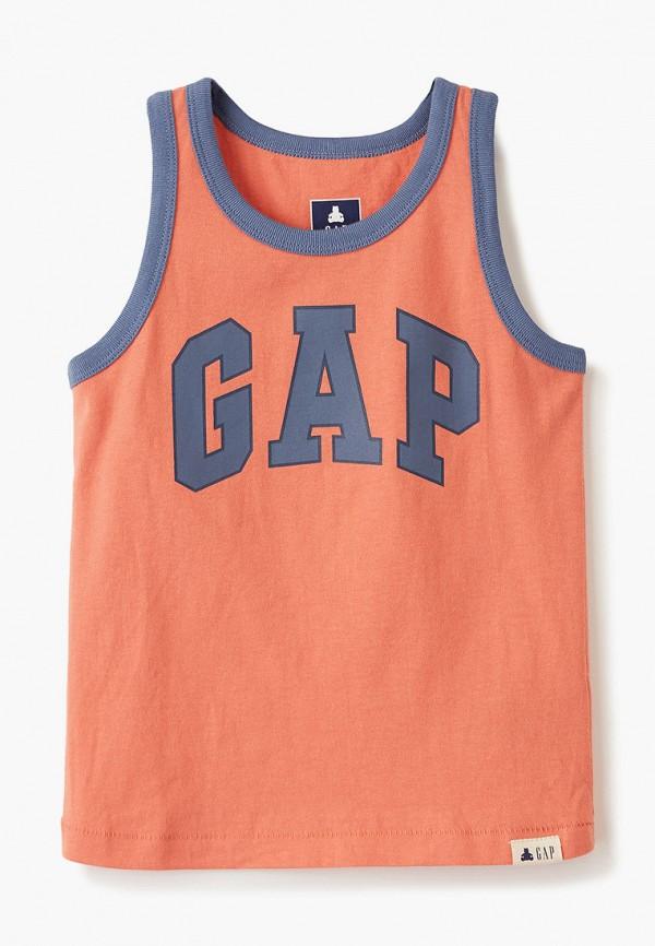 майка gap для мальчика, оранжевая