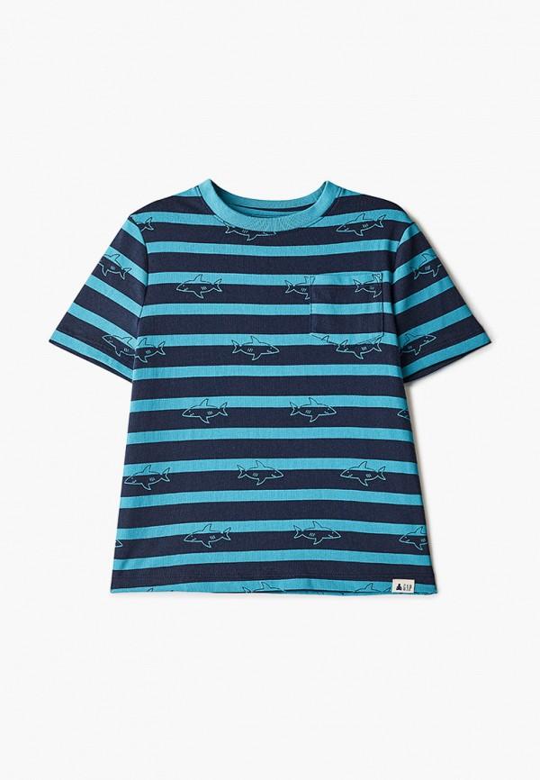 футболка с коротким рукавом gap для мальчика, синяя